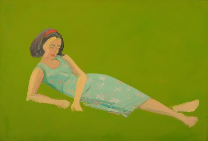 Alex Katz, Ada in the Grass, 1963. Oil on linen. 31 x 45 1/2 inches. MD-00051.