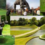 10 Obras de arte y paisajismo con césped, imprescindibles.